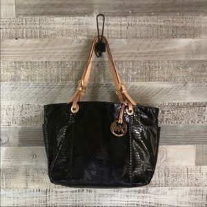 1HR🔥Michael kors Black snakeskin handbag